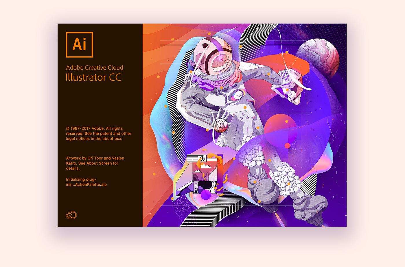 splash screen adobe Illustrator vasjen katro ori toor Baugasm adobe 2018
