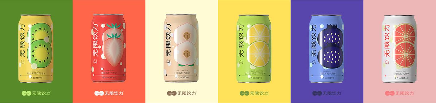 brand drink drinks Fruit graphic ILLUSTRATION  milky tea tea vis