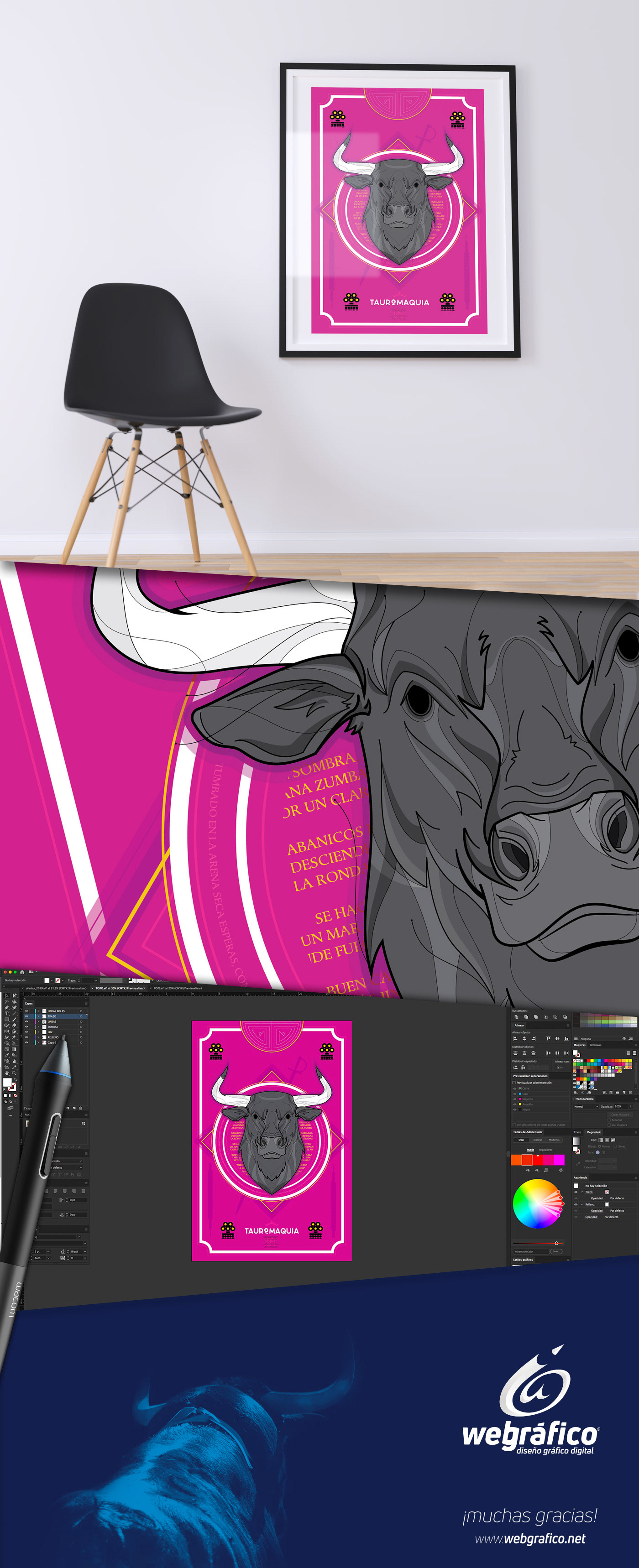 webgrafico miguel colunga aguascalientes tauromaquia toros ilustracion ILLUSTRATION