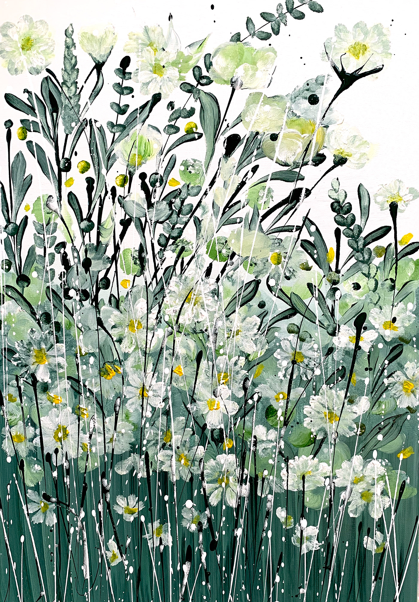 abstract floral Flowers meadow Wildflowers country countryside fields happy uplifting