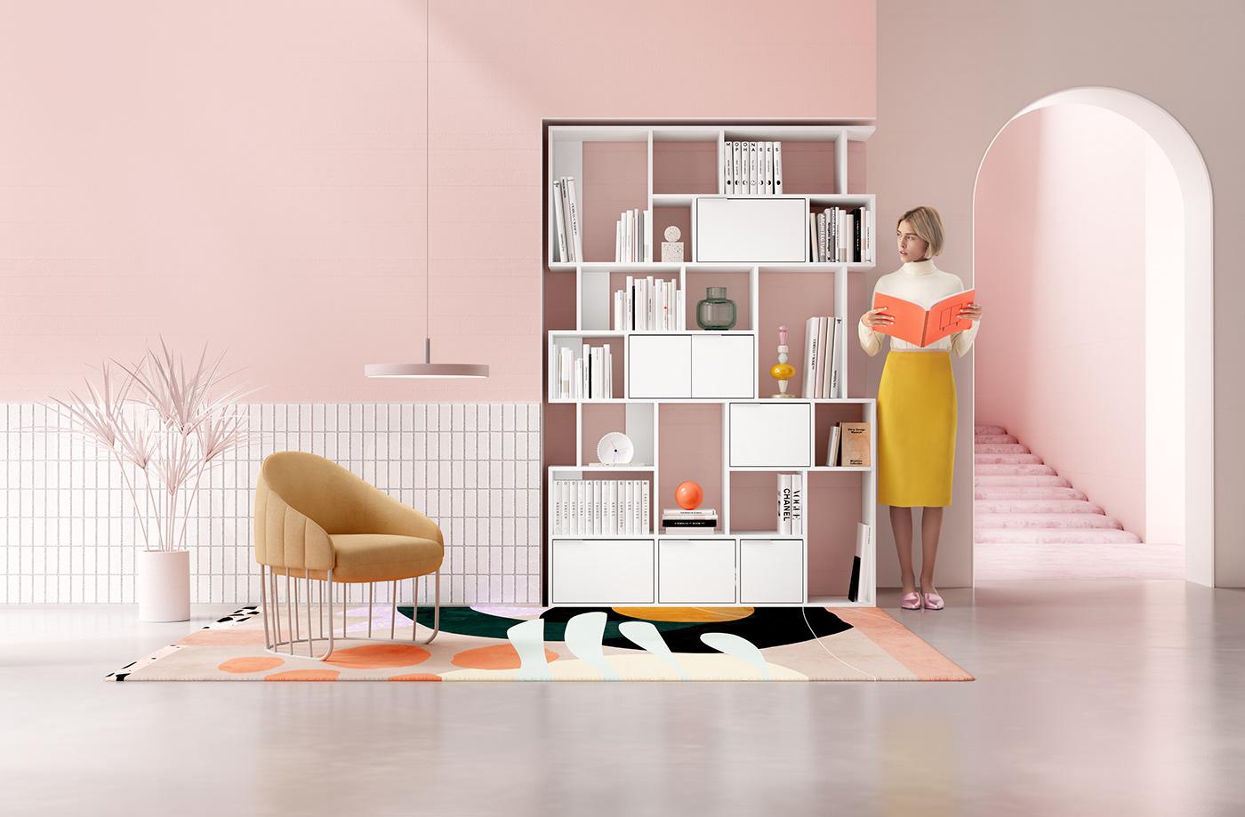 tylko reisinger reisinger andres CGI animation  art direction  interior design  product design  Shelf