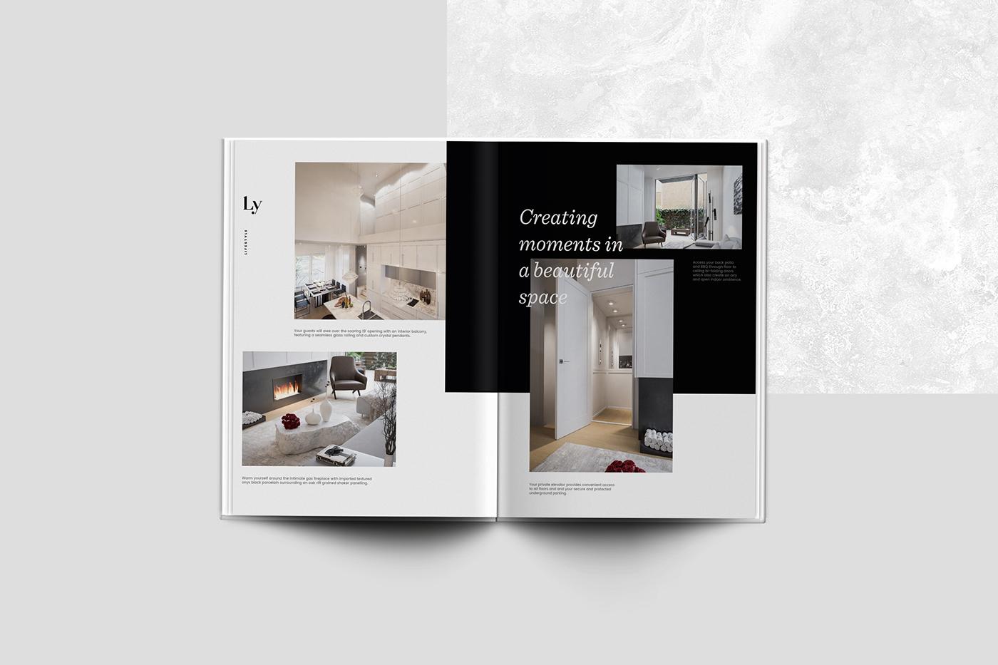 black White beige photoshop Illustrator minimal elegant Web Design  branding  real estate
