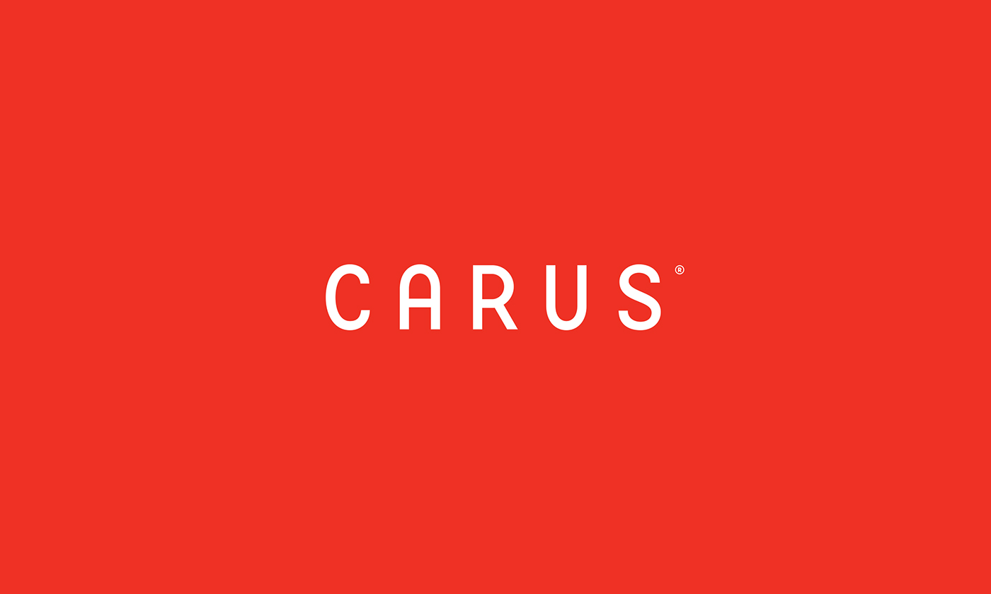 CARUS flooring branding  identity Interior red White carpet flexible Responsive