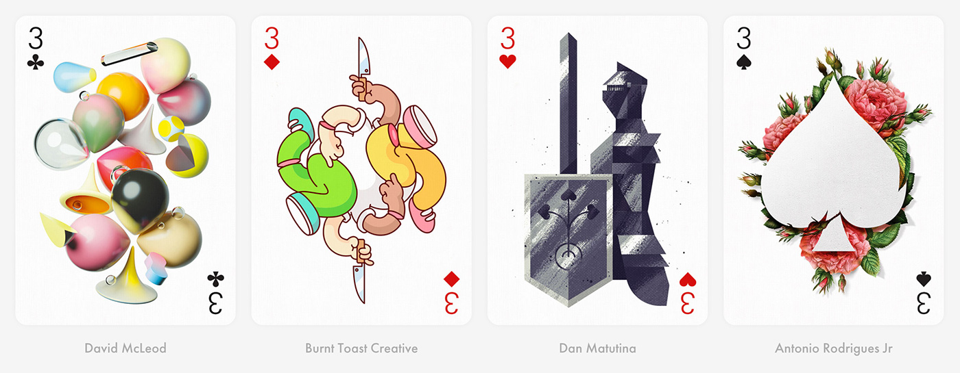 cards,deck of cards,collective art,Collaboration,pattern,Playing Cards,gift,ILLUSTRATION