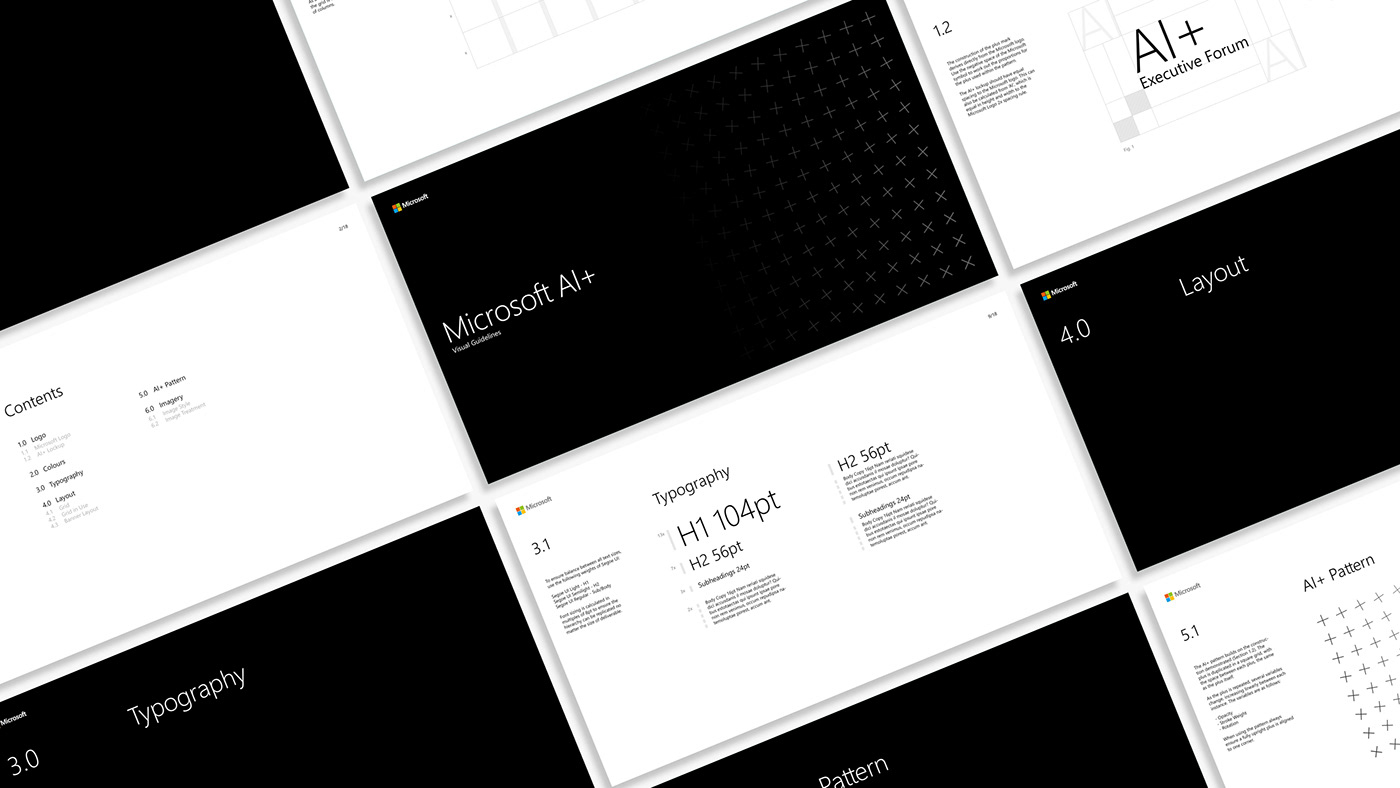 Microsoft ai artificial intelligence Event business pattern plus system poster Website