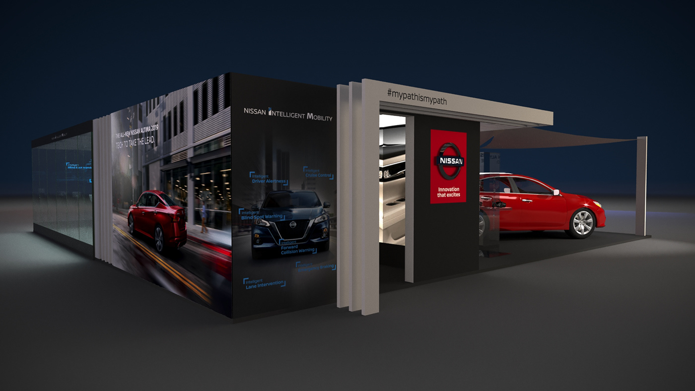 Brand activation stand design Event Design Car launch car reveal interactive event solution