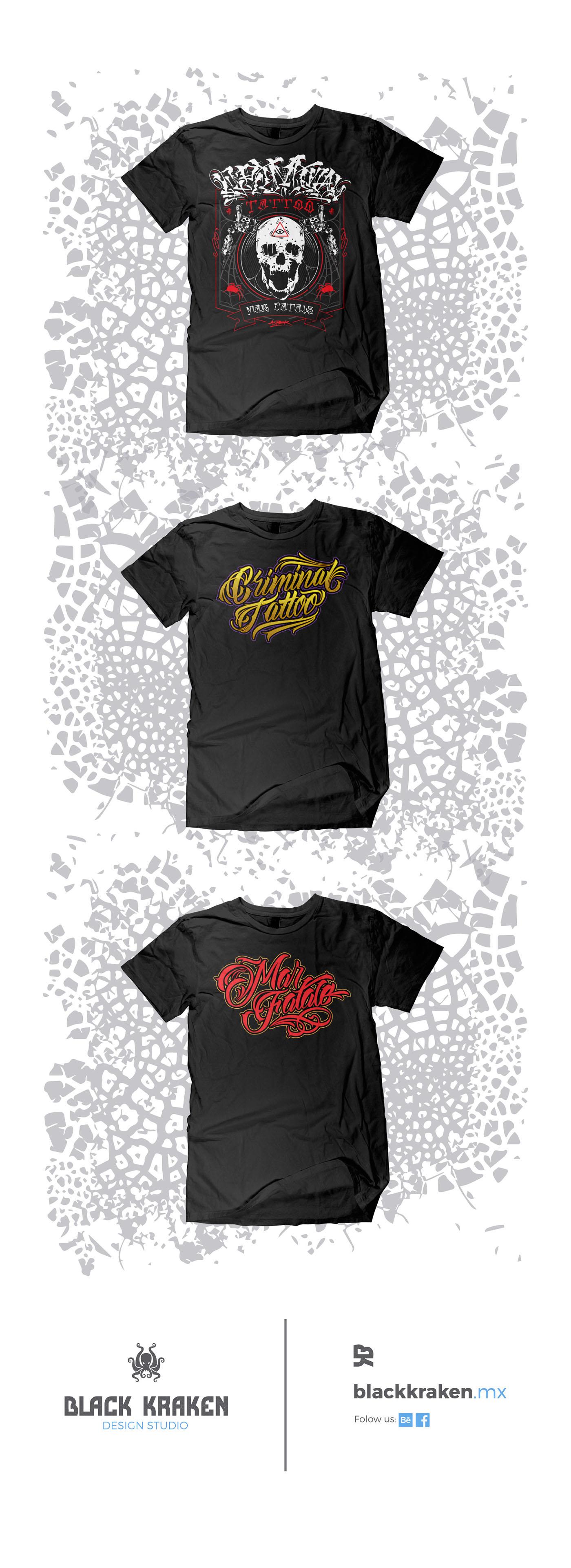 lettering ilustracion diseño de playera t-shirt marca