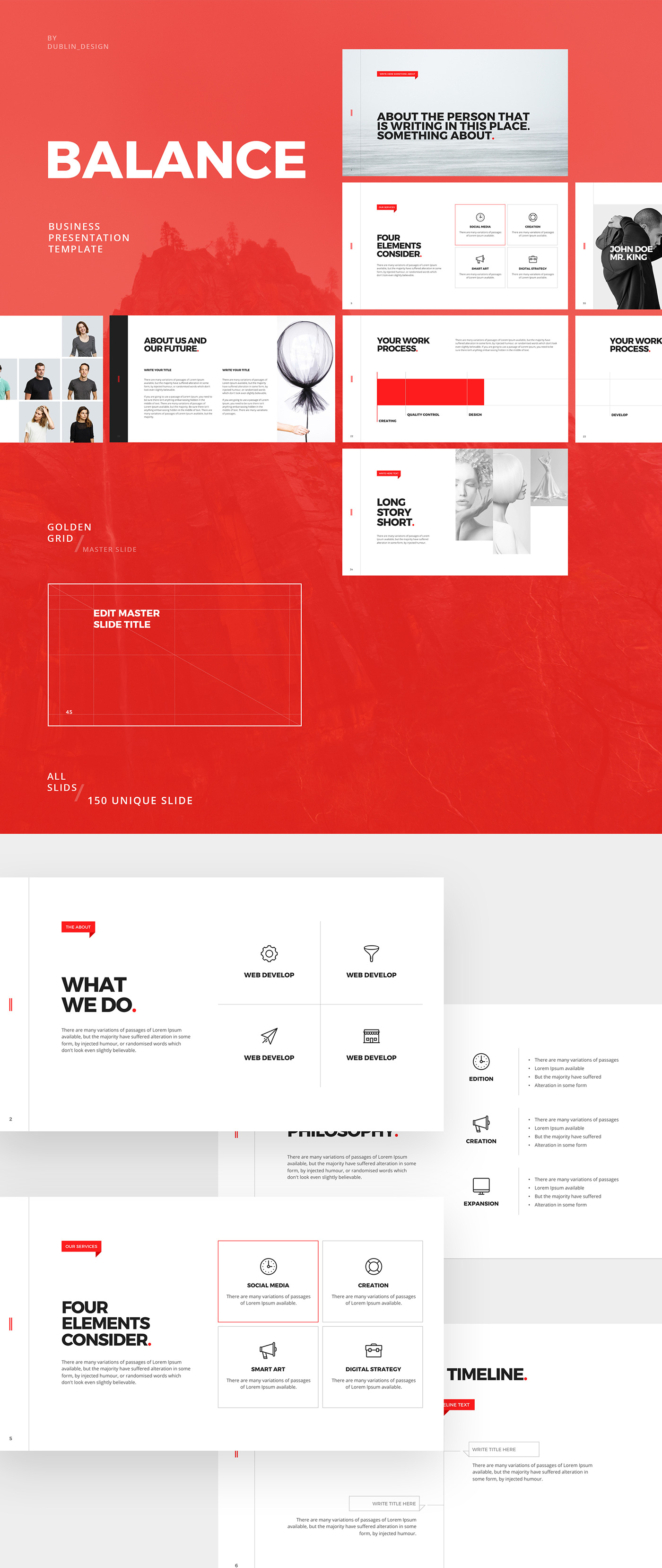 Balance free minimal powerpoint keynote template on behance toneelgroepblik Images