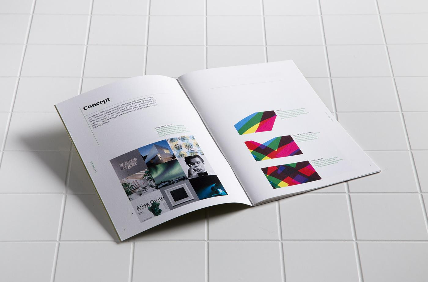 brand manual book visual identity colors tiles graphic design museum