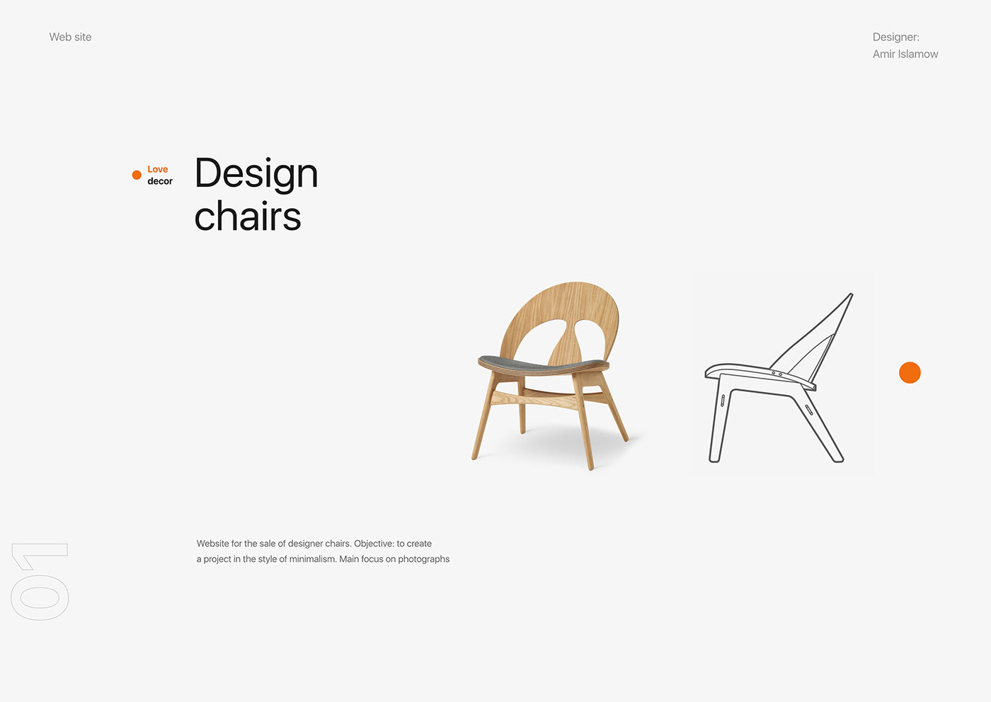 Web design site online store