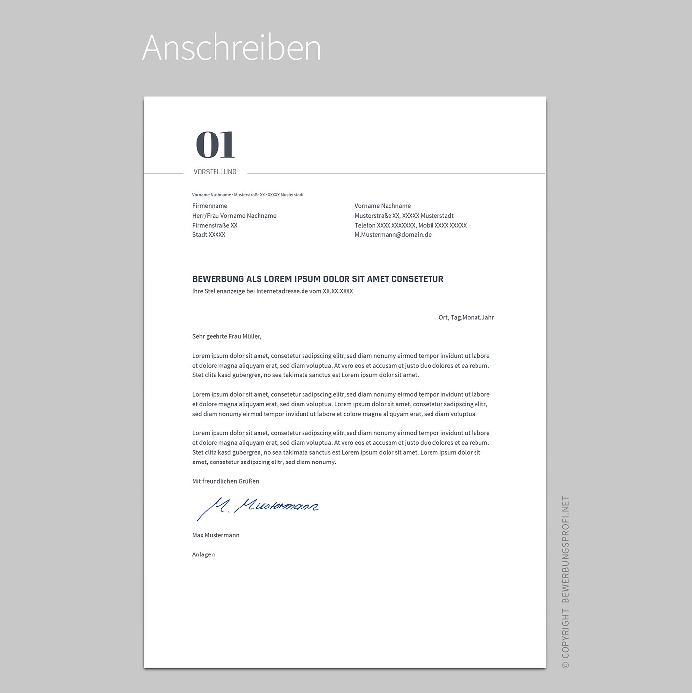Free Clean Resume Template | Bewerbung Vorlage on Behance