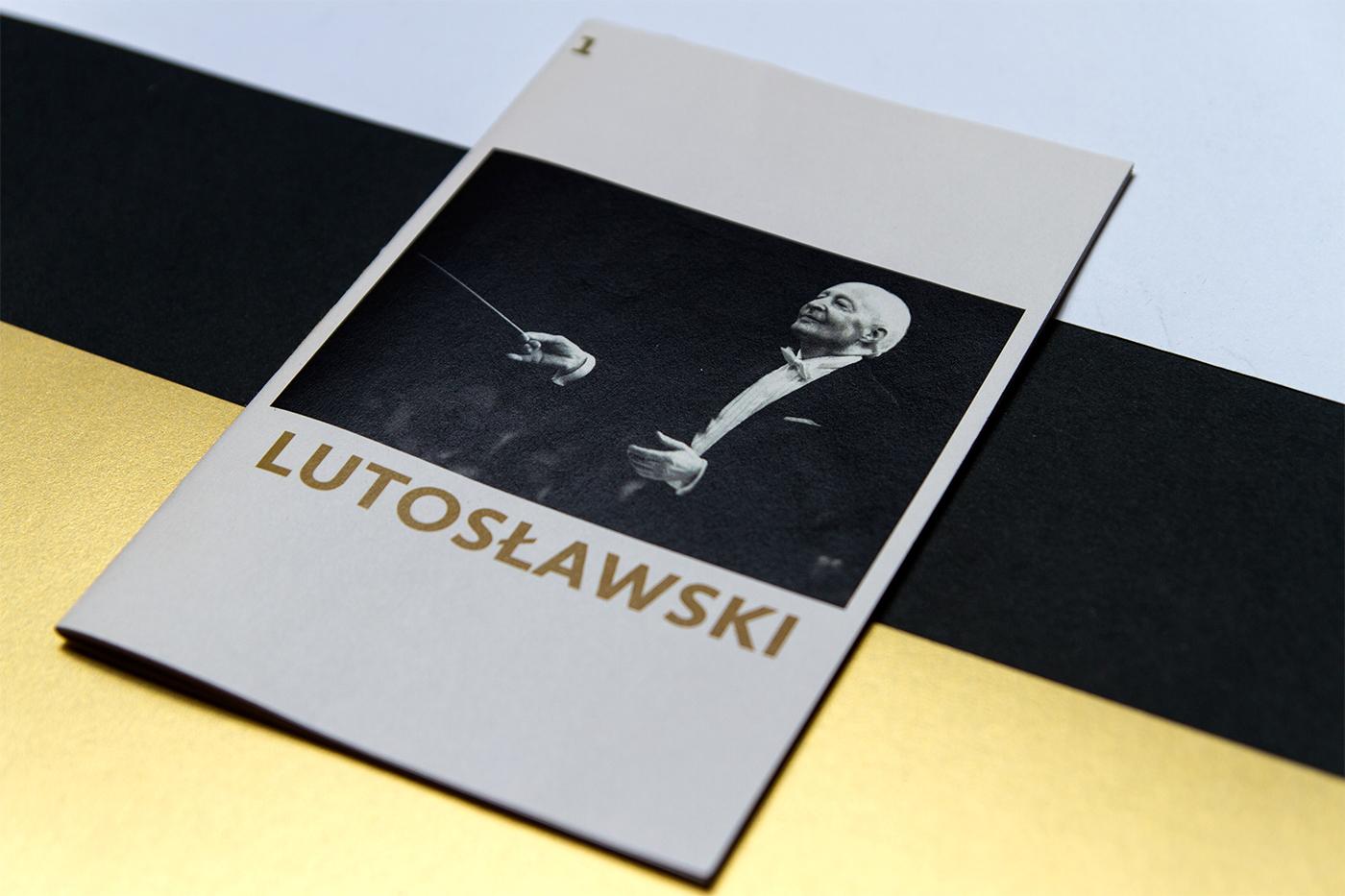 Lutosławski typo mehr gold kompozytor aleatoryzm musician Classic conductor muzyk book black