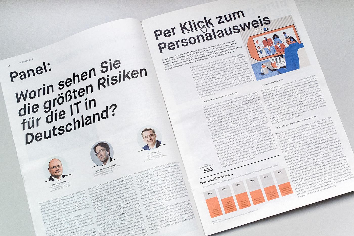 publicateur economics magazine Handelsblatt IT-Gipfel ILLUSTRATION  editorialdesign