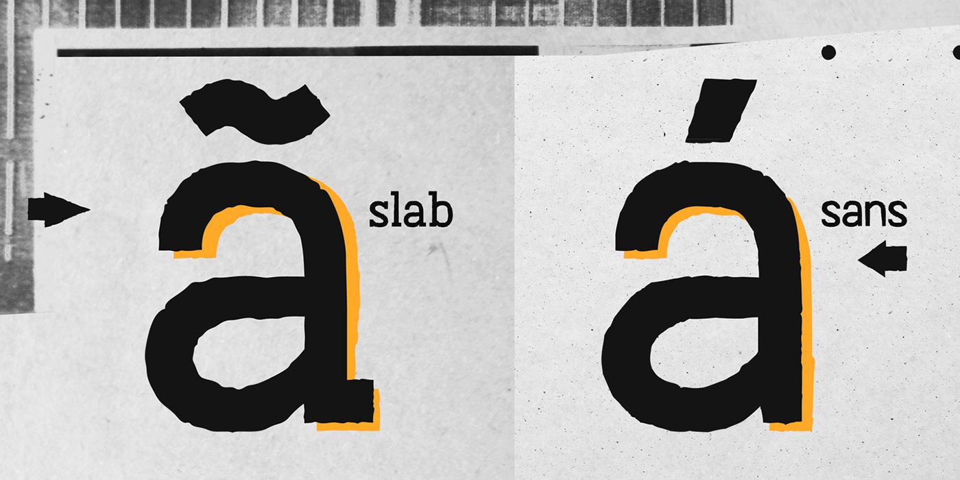 type tipografia wip progress font fuente concept Opentype contextual stylistic alternates texture rust dirt