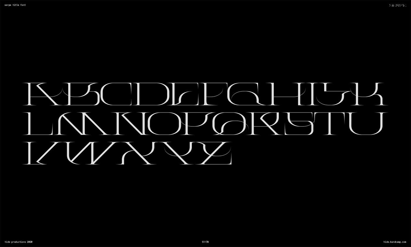 custom font experimental extreme font font Modern Typeface type design Typeface weird design