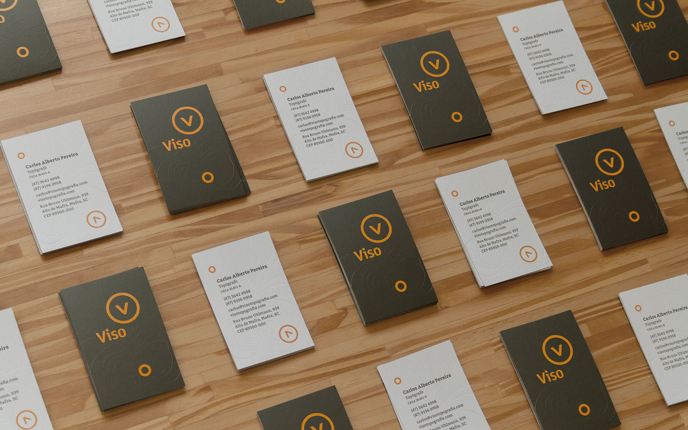 business card topography surveying emboss Level curves sober classy color logo