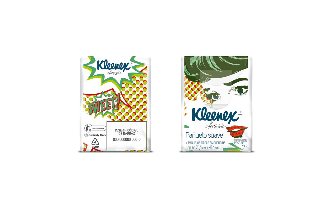 Packaging kleenex