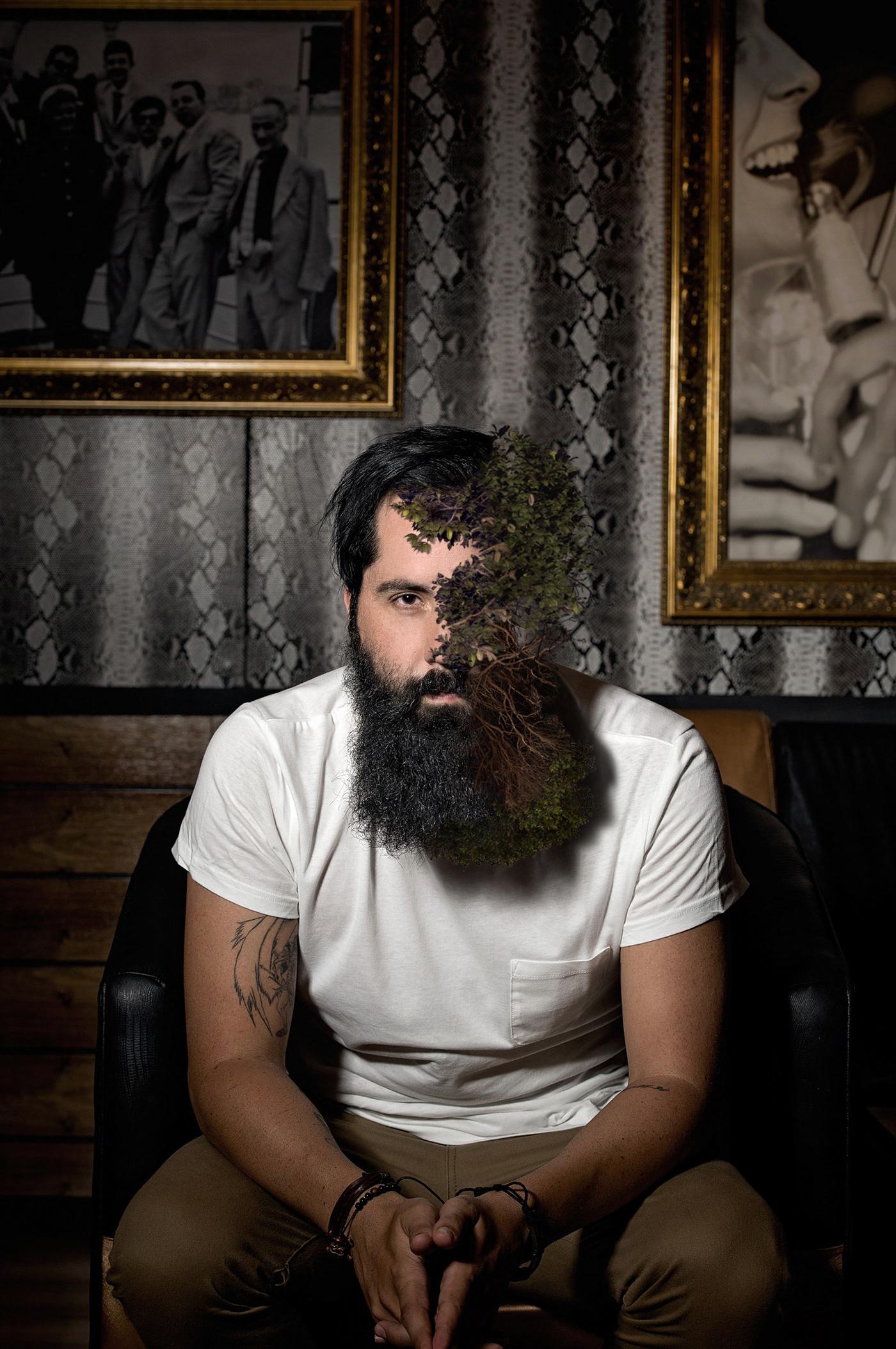 #beardedman #bearded #man #photoshop #adobe #fotografiadigitale #fotografia #direzioneartistica # #photography # #Artisticdirection # #digitalphotography #piante # #plants #cespuglio #bush #behance #moda #