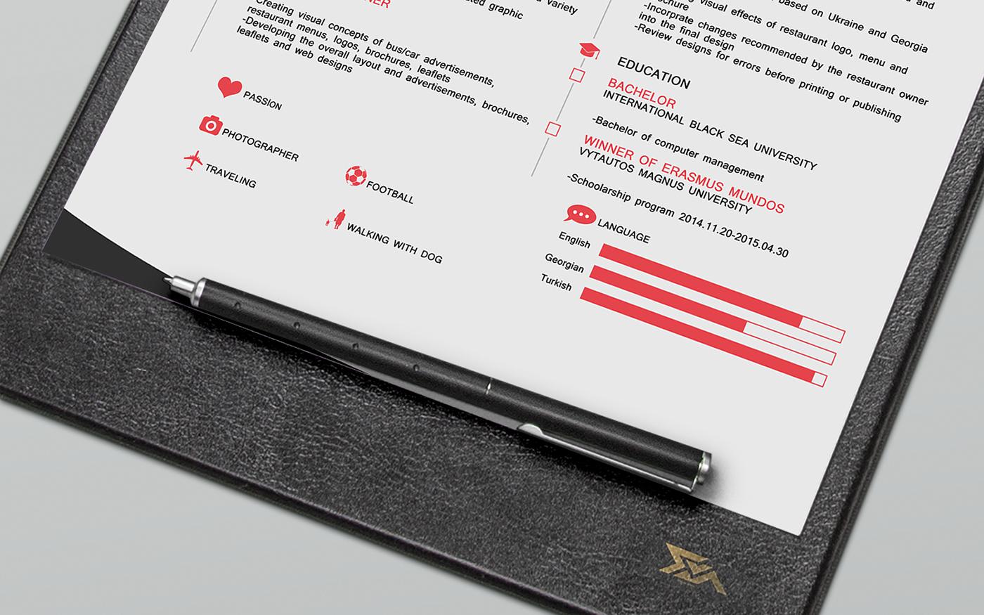 cv free resume template on behance