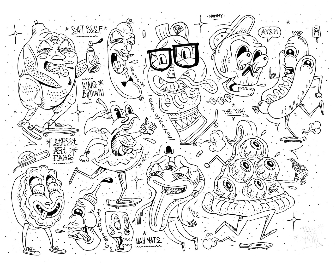 Character Design Jobs Nyc : Tattoo flash on behance