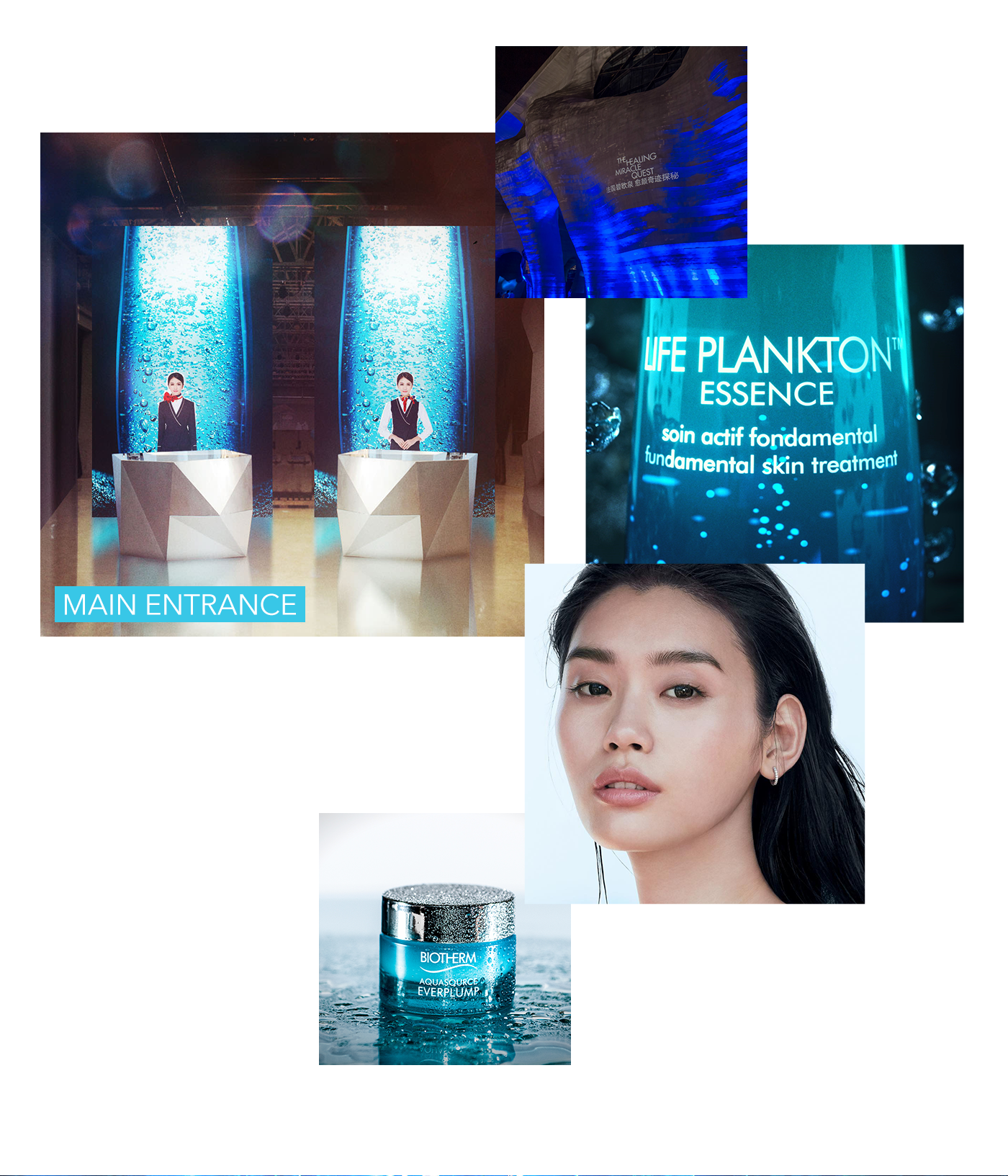Biotherm Event life plankton brand branding  skincare Exhibition