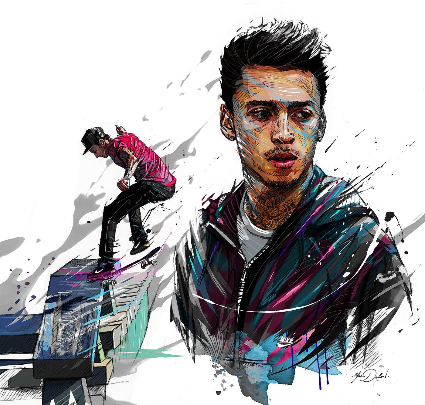 Skateboarding- Nyjah Huston on Behance