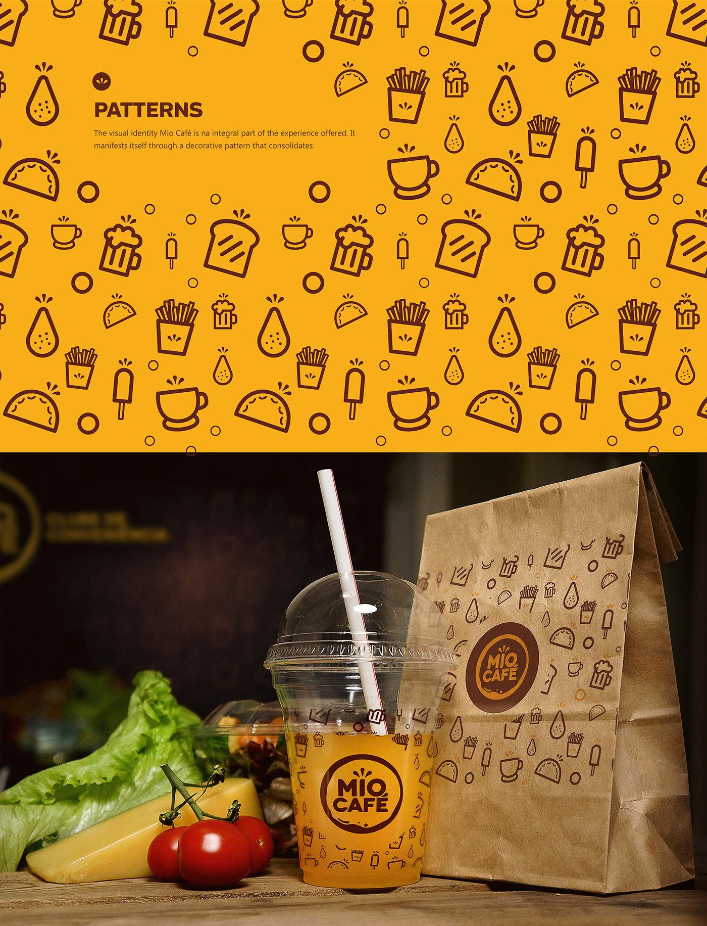 identidade visual Convenience Club Convenience Store Clube de Conveniência Coffee cafe amarelo naming Patterns