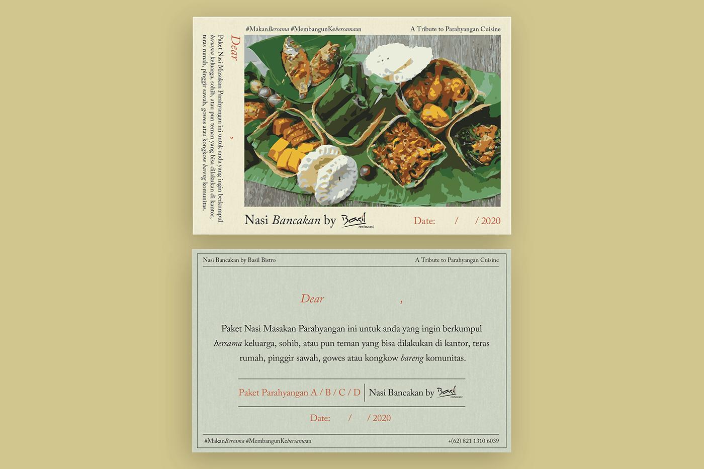 Indonesian menu design Restaurant Branding Restaurant Collaterals restaurant design