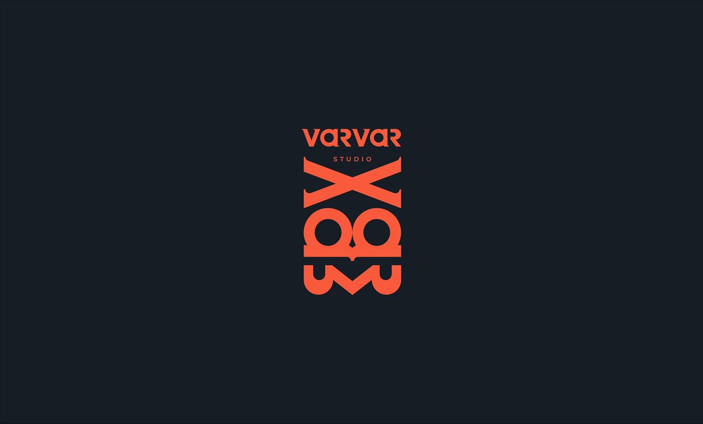 Barbarian identity logo Logotype varvar Video Production
