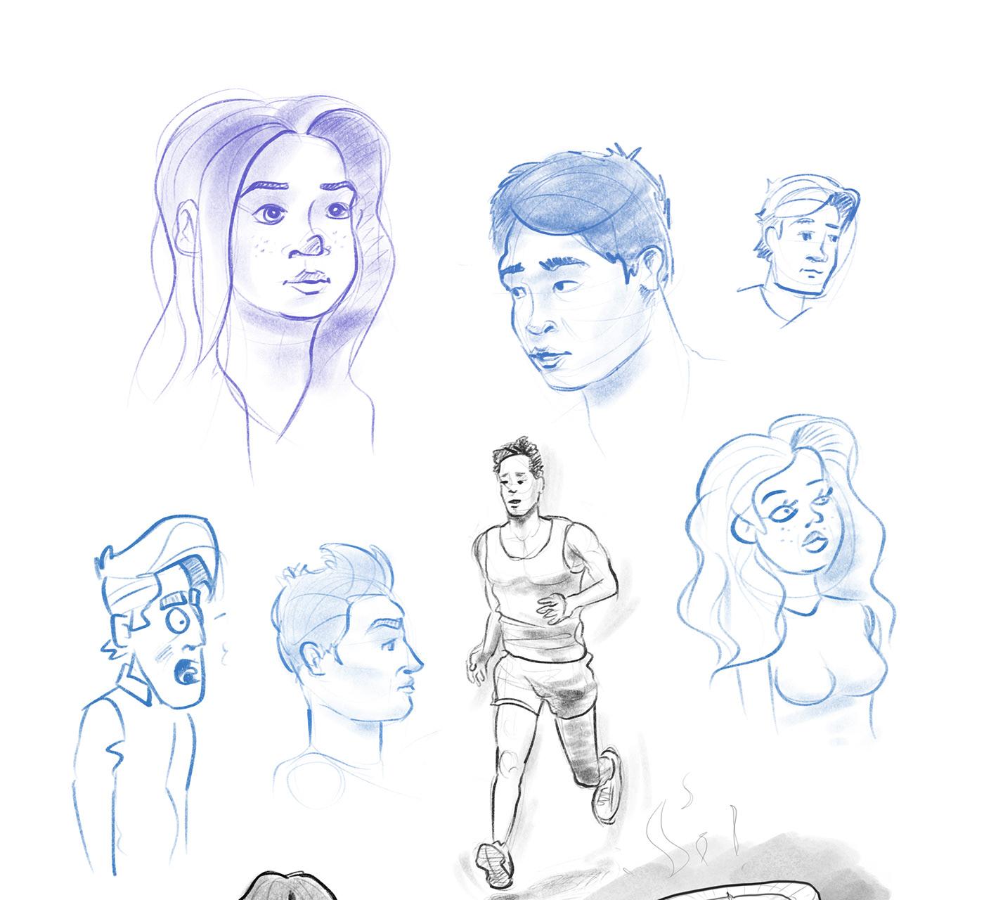 figures characters sketching Drawing  Cartooning  people Fun