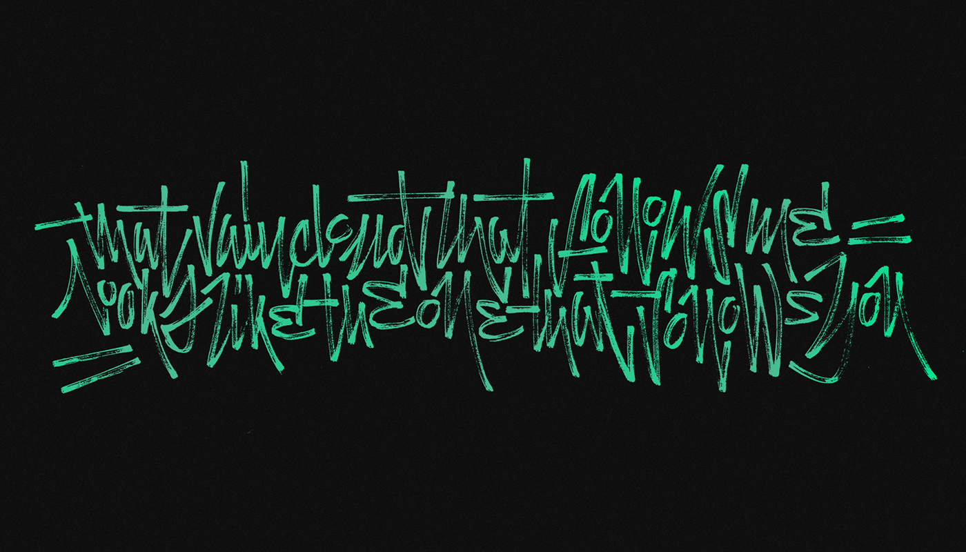 Script letter type brush Crayola pencil quote writing  color