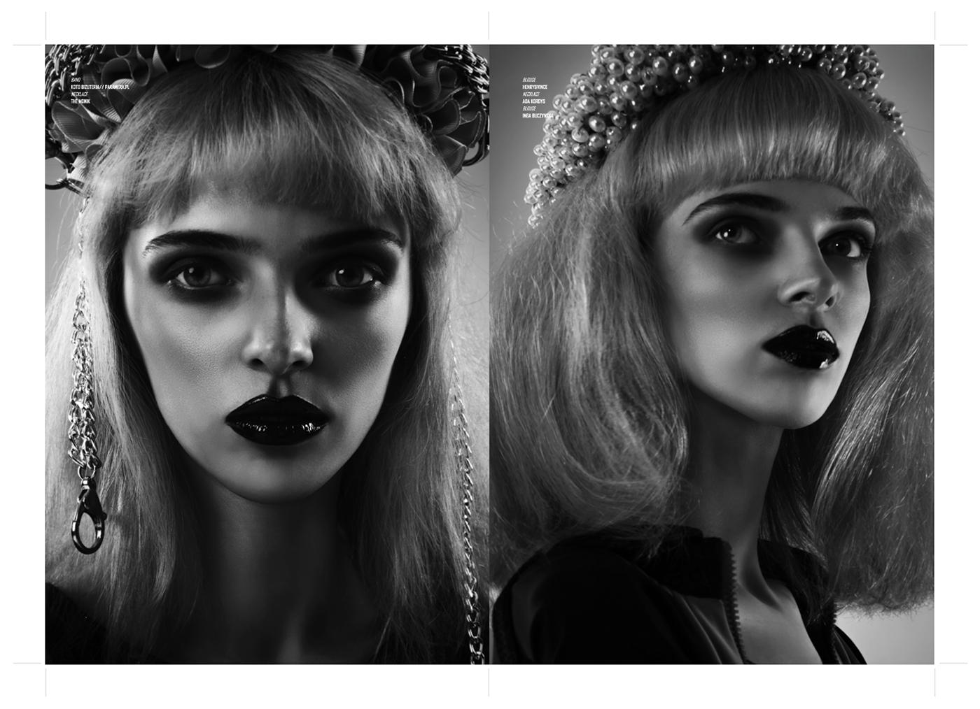 magazine Layout editorial Fashion  black and white graphic graphic design  art direction