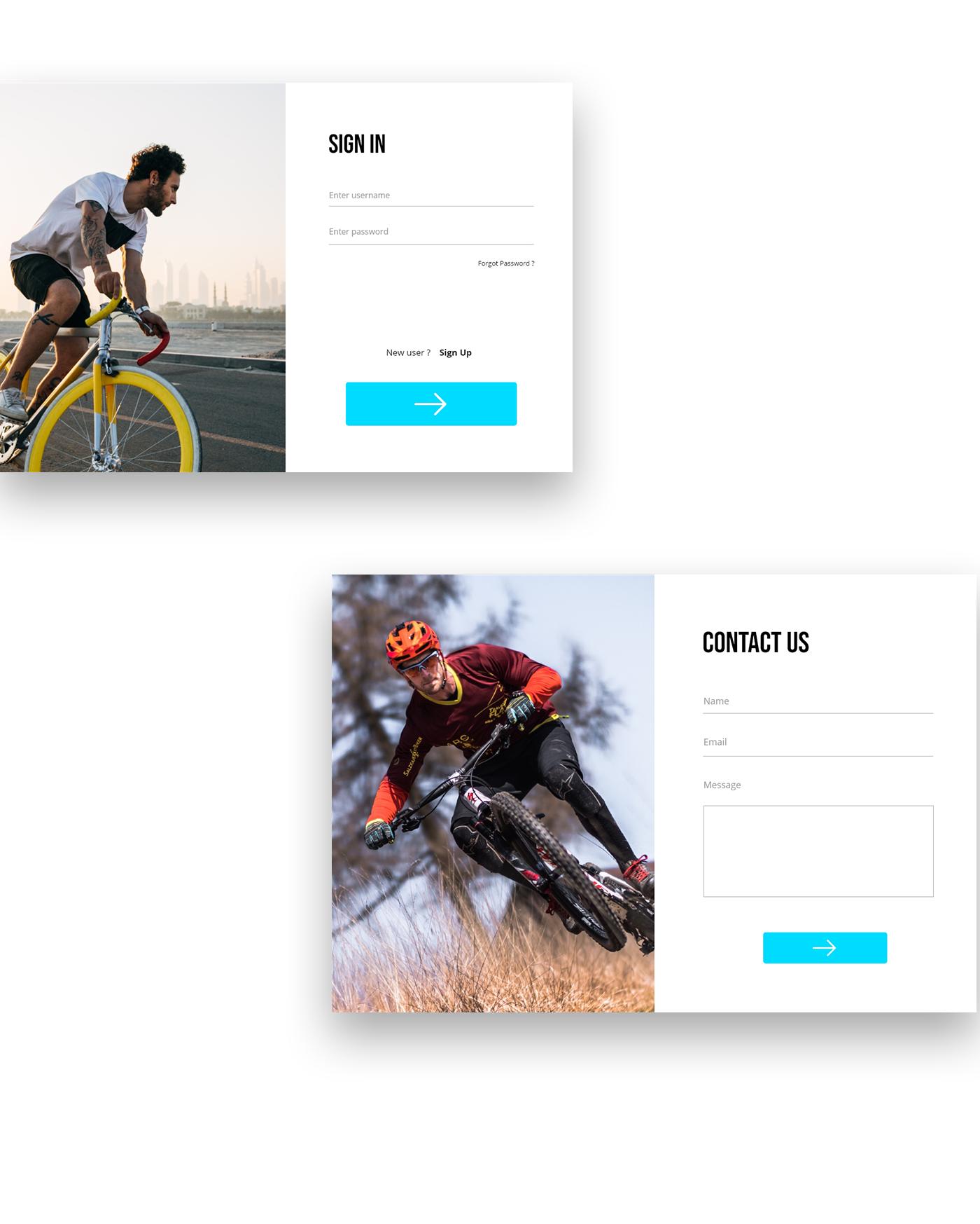 adobexd Bicycle bikes UI uidesign ux uxdesign Webdesign Website websitedesign