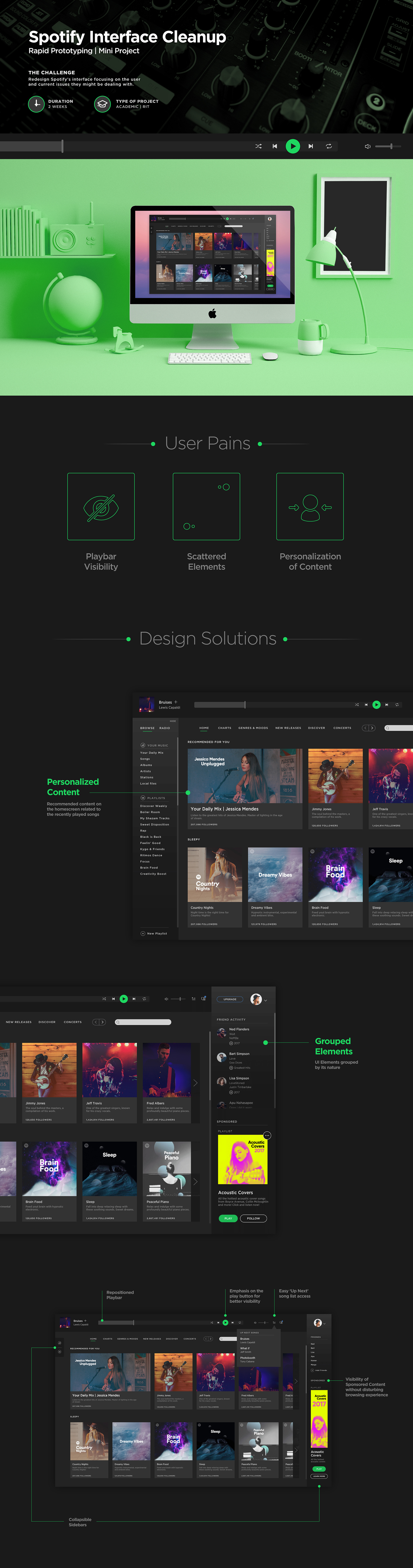 Spotify Interface Cleanup | Mini Project on Behance