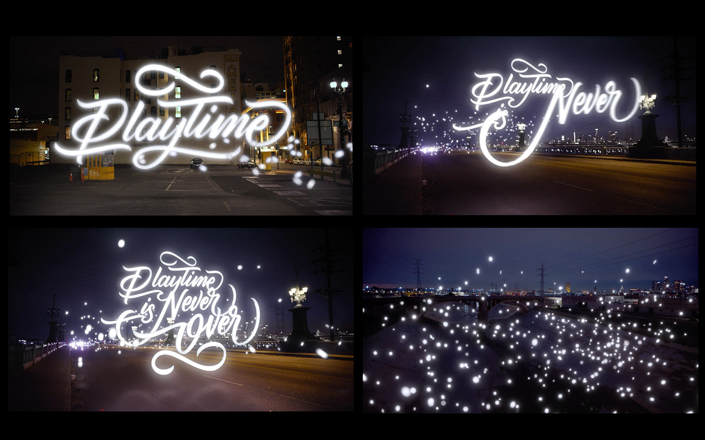 conference event identity typography   glow reflection animation  motion graphics  light shimering Handlettering