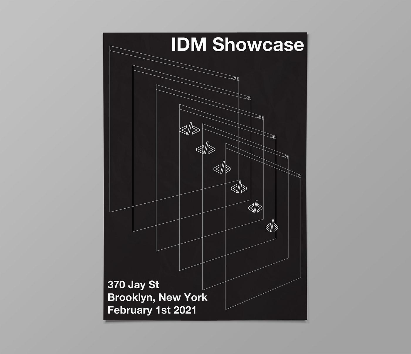 affiche black black and white design fine idm minimal minimalistic poster simple