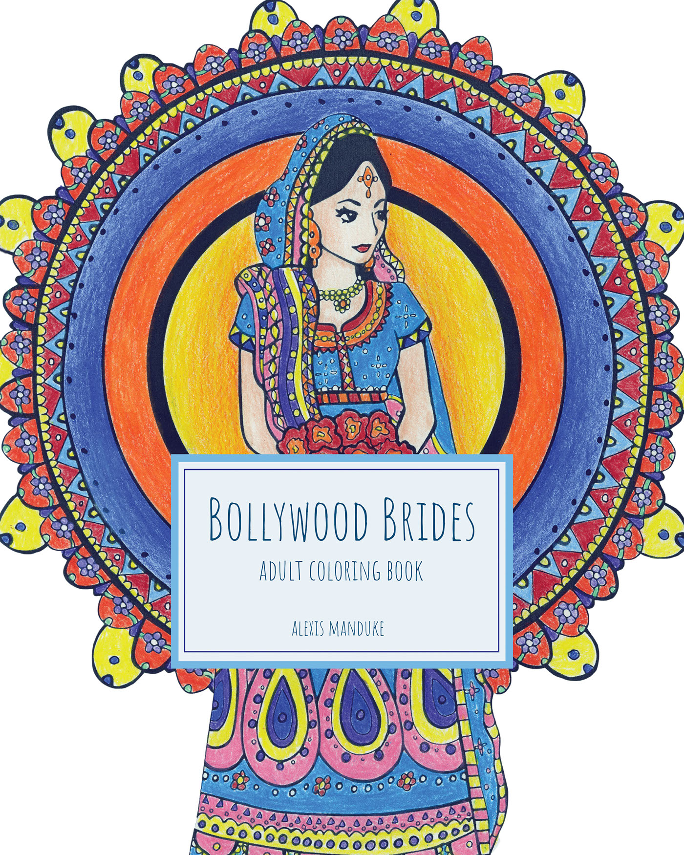 bollywood brides coloring book for adults on behance