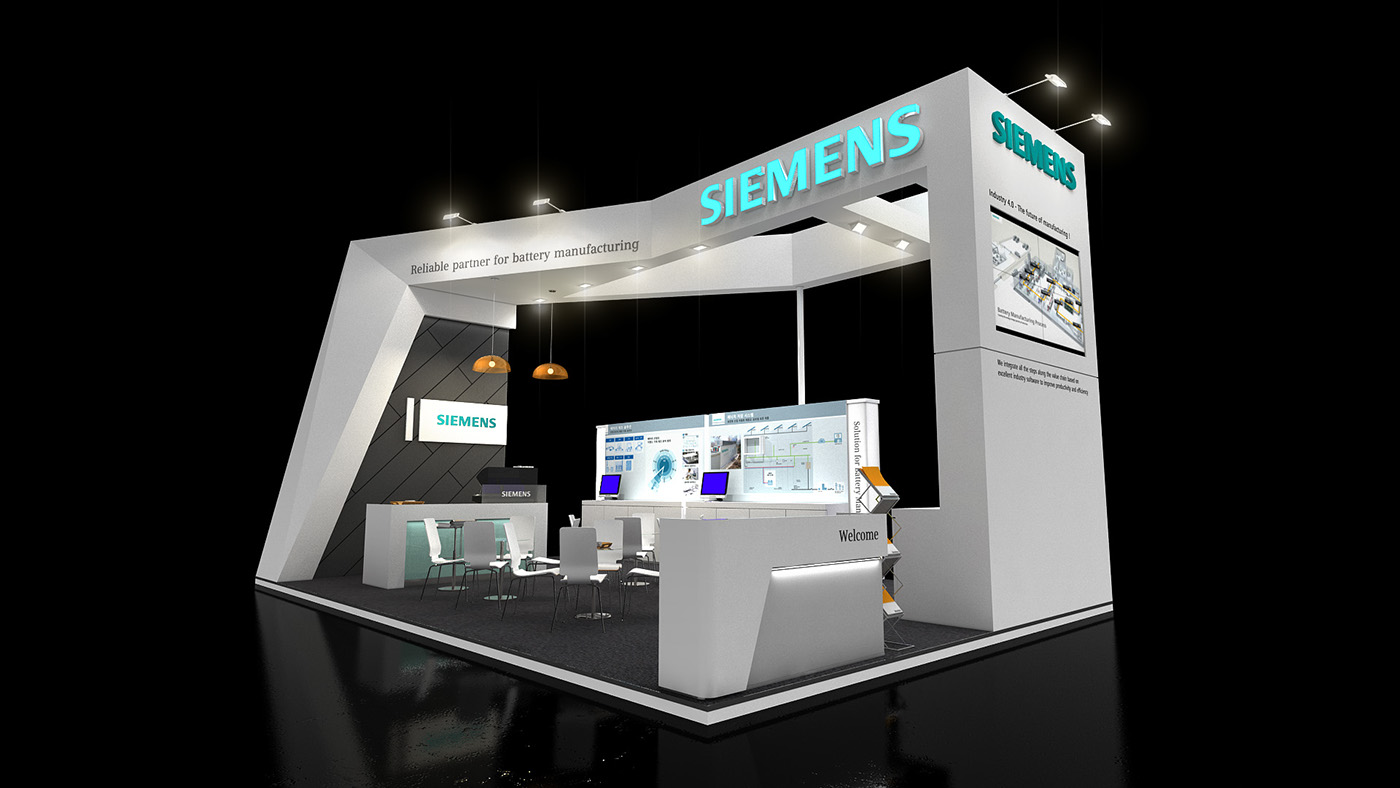 Exhibition Stand Design Sample : Siemens exhibition stand on behance