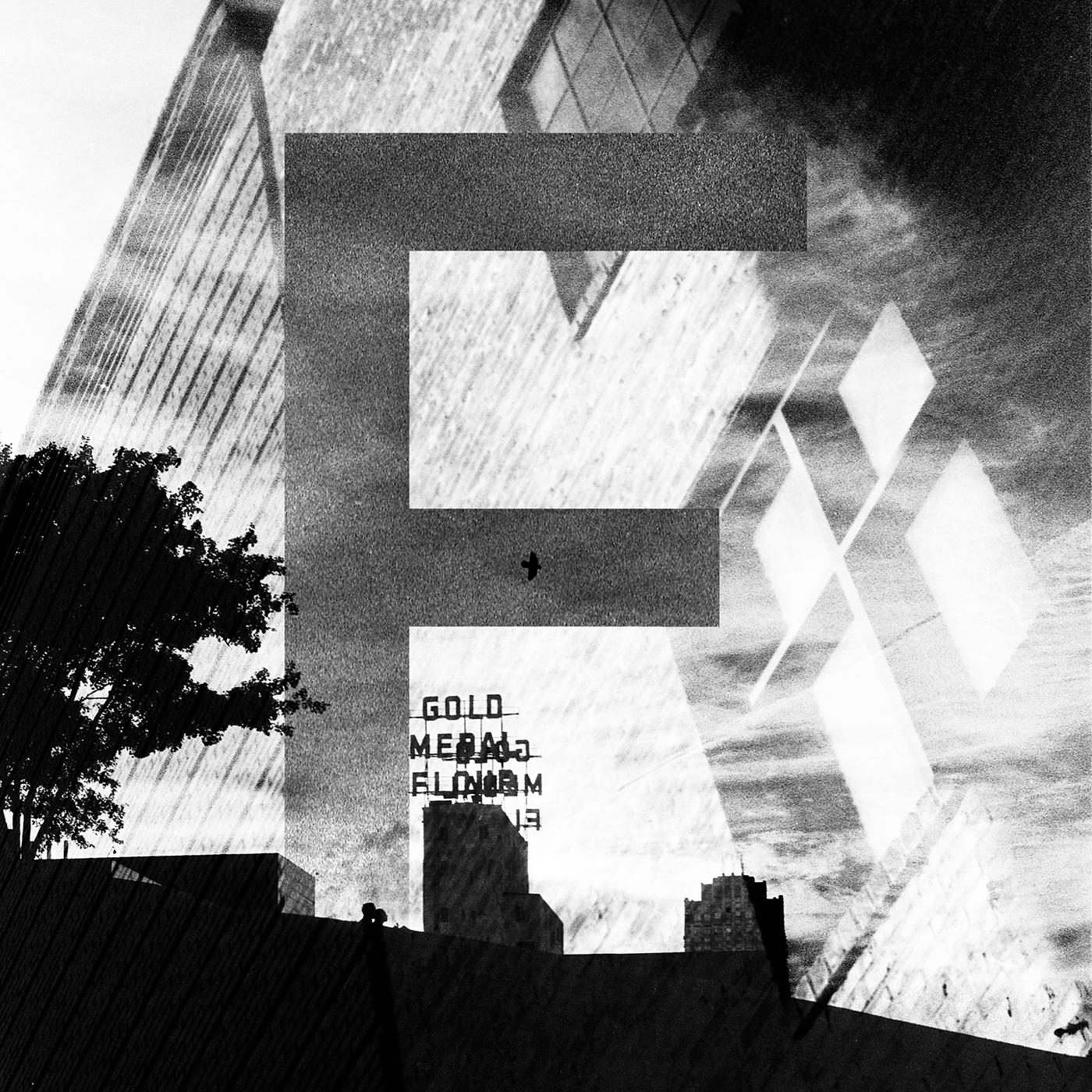 Capital C photographic illuminated letter. Film photograph with digital manipulation.