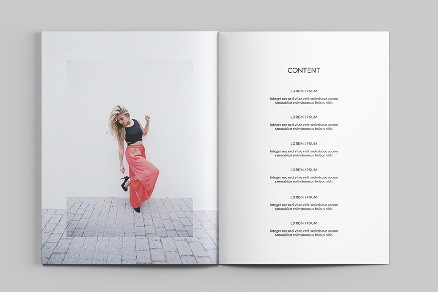 fashion lookbook template on behance