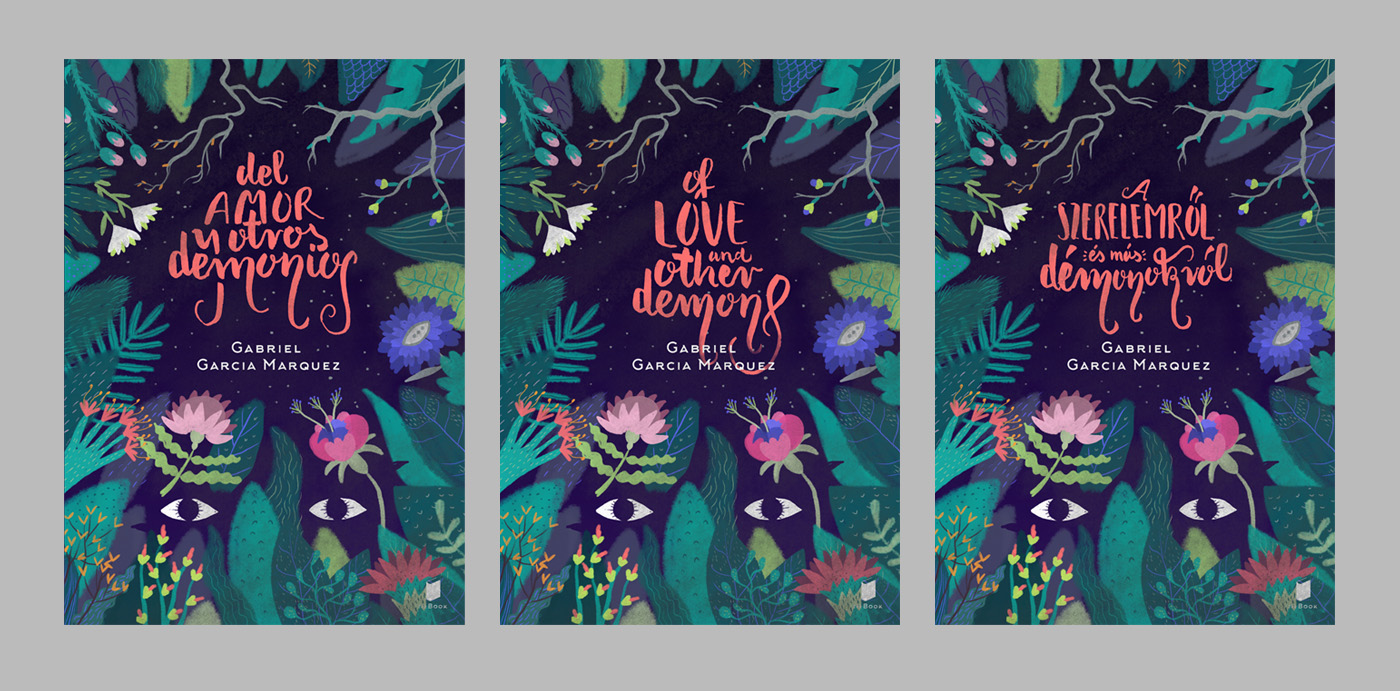 marquez pattern colombia Calligraphy   jungle demon floral eyes maria mandinga EXORCISM
