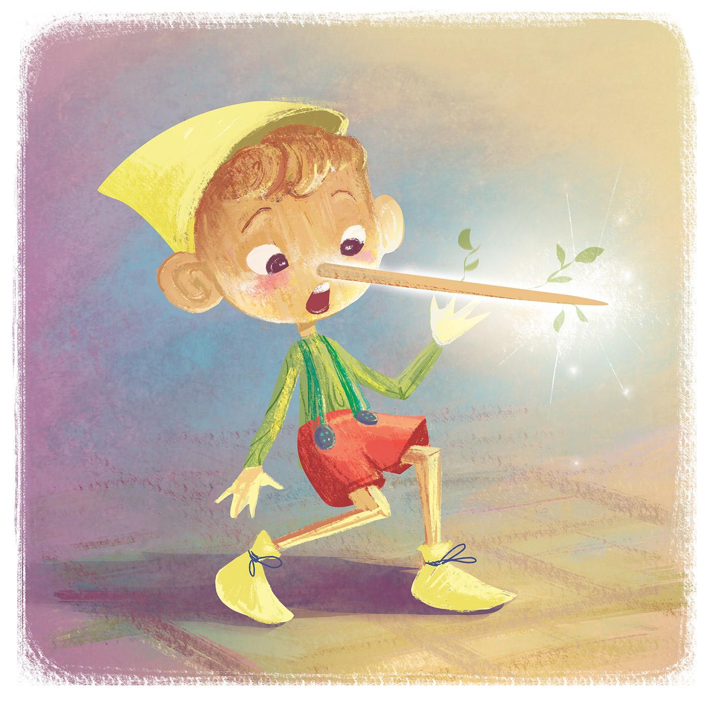 ILLUSTRATION  tale children digital pinocchio children's story fairy Character design