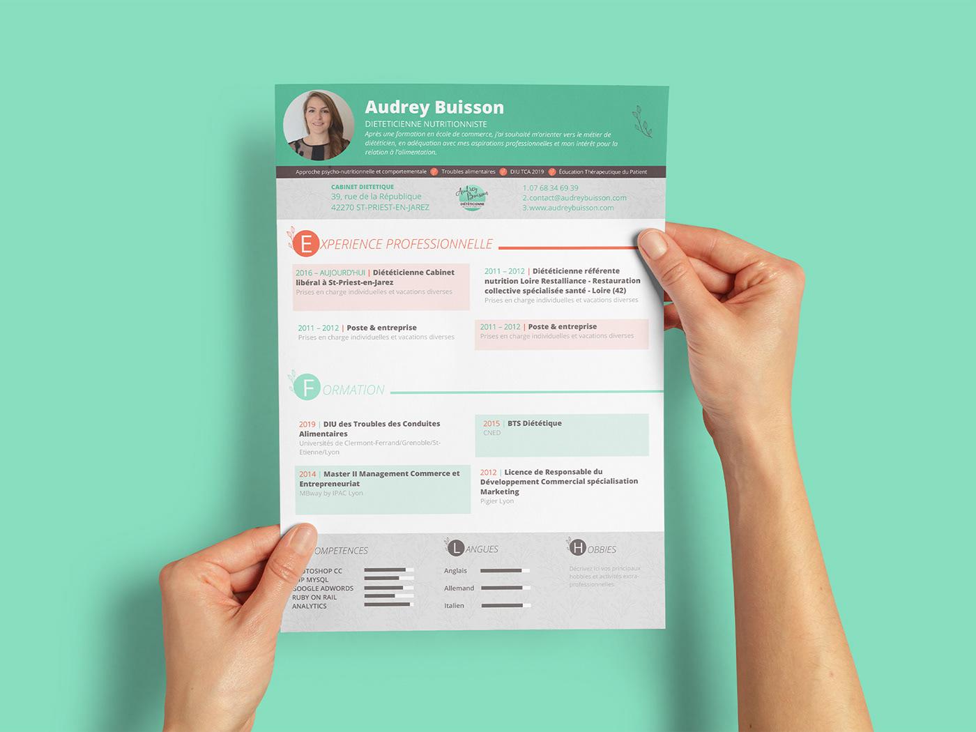 branding  diététique Food  Health healthy identité visuelle logo medical nutrition visual identity