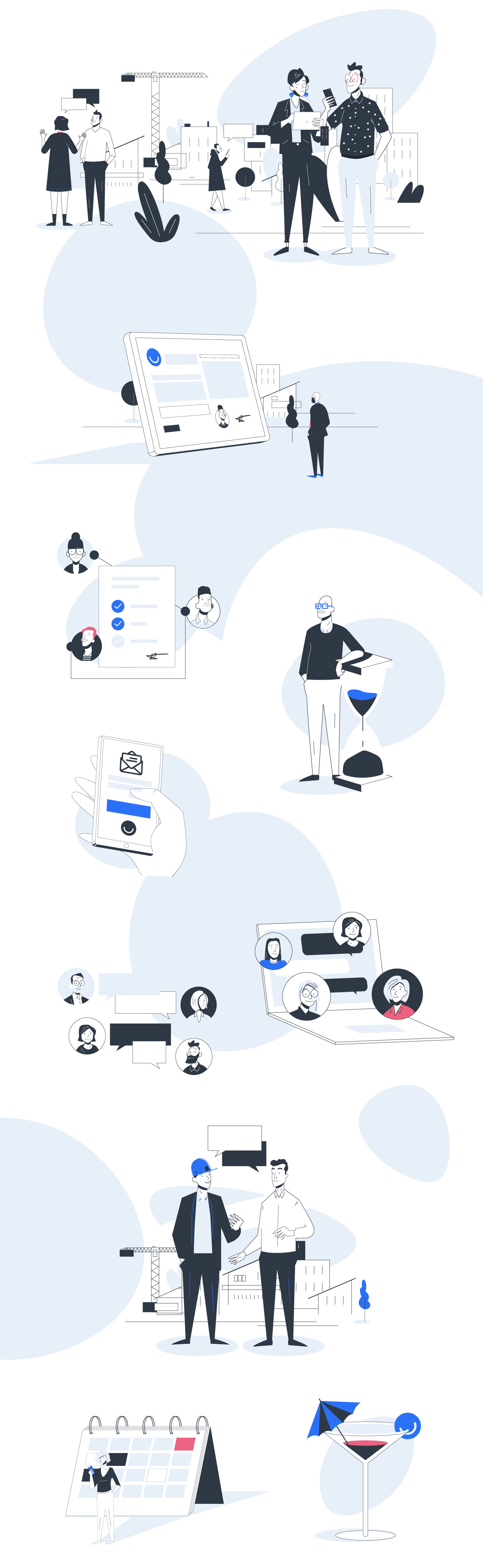animation  app characters housing icons illustrations property ui design