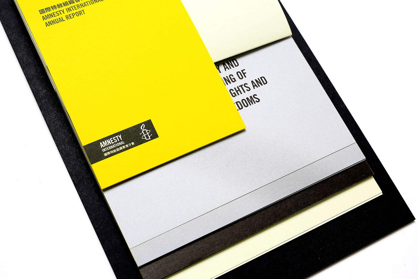 annual report amnesty Hong Kong publication typography   stationary editoral graphic branding  print
