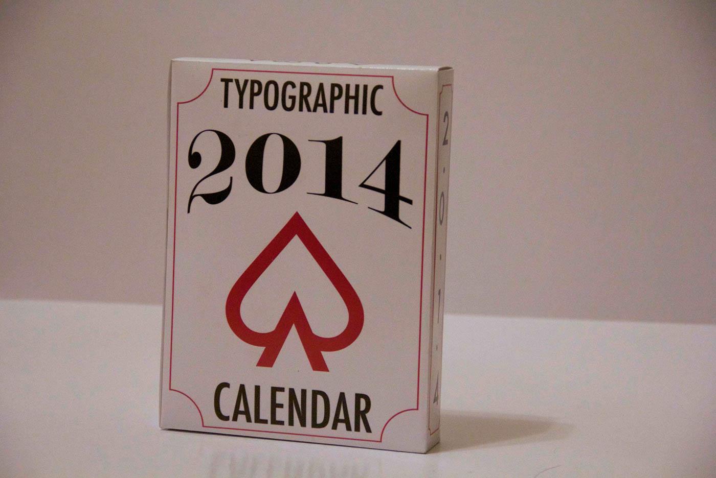 Calendar Typography S : Typographic calendar on behance