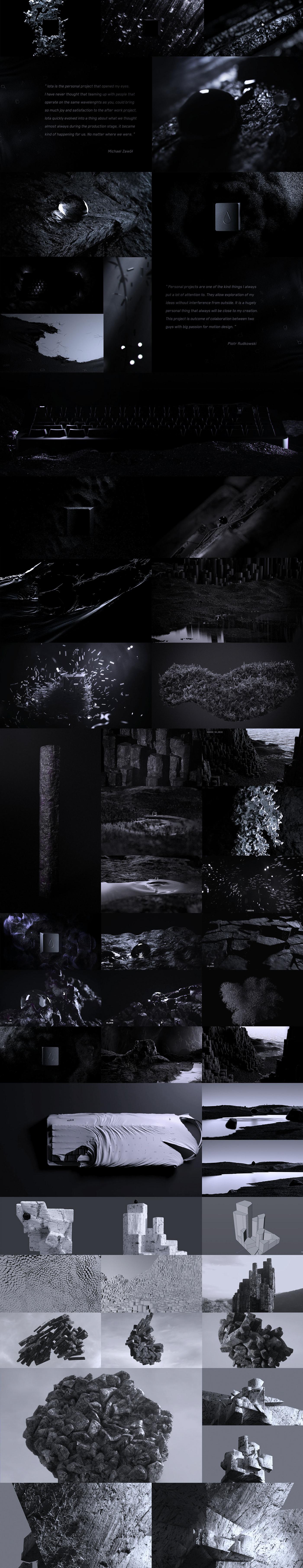 black bw design droplet motion noir rock simulation sand basalt