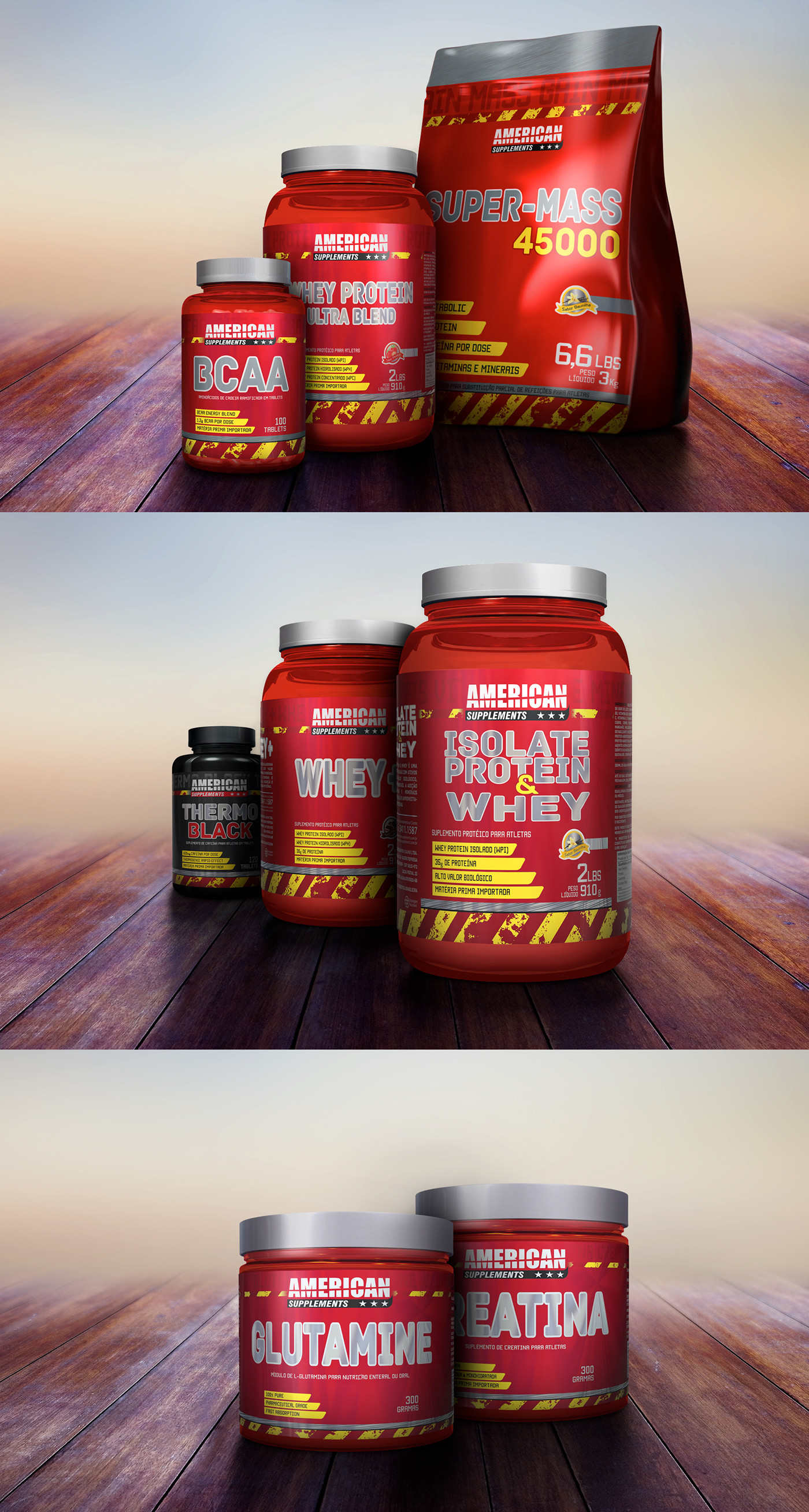 American Supplements || Packaging on Behance