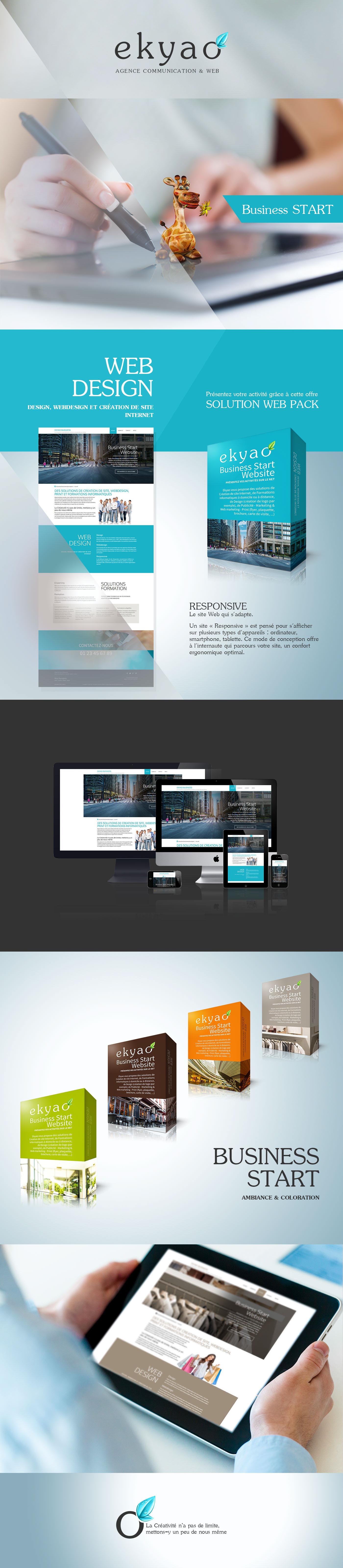 Adobe Portfolio ekyao business start agence communication design presentation logo Responsive Website Webdesign