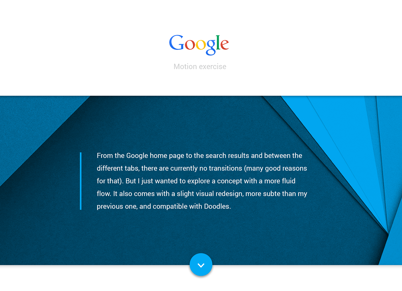 google Transition motion flat material search gallery mountains list results voice